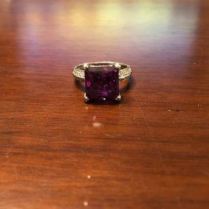 Square Rhodolite Ring
